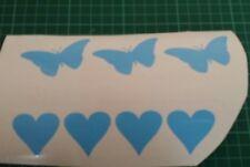 30 Bebé Azul Corazones y Mariposas Vinilo Pared Arte Pegatina 30 Decoración De Habitación Wallart