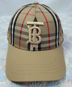 Burberry TB Baseball Sport Hat Adjustable Brown Cap Unisex