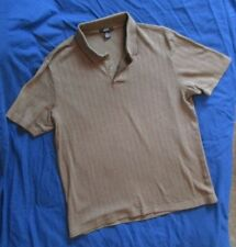 Alfani Mens Polo Shirt Brown Medium