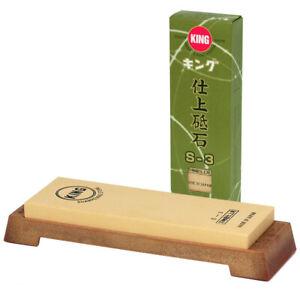 Japanese King Super Finish 6000 Grit Sharpener Whetstone S-3 Stone Made in Japan