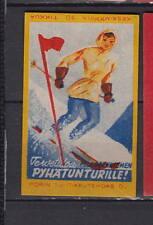Ancienne étiquette Allumettes Finlande  AA108 Ski Femme