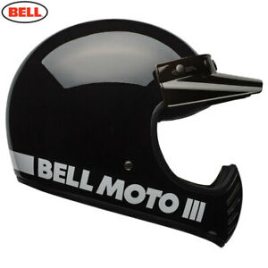 Bell 2020 Cruiser Moto 3 Adult Helmet Classic Black Size Medium Free UK Post