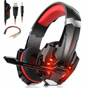 Willnorn Stereo Gaming Headset with Mic for PS4,Xbox One,PC,Mac/Noise Cancelling