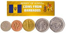5 BARBADIAN COIN DIFFER COLLECTIBLE CARIBBEAN COINS FOREIGN CURRENCY