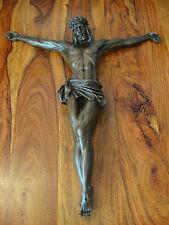 Jesus Christus Bronze 50 cm Kreuzigung Sohn Gottes Messias Kruzifix Kreuz Figur