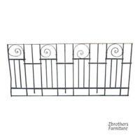 Antique Victorian Iron Gate Window Garden Fence Architectural Salvage Door #015