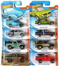 Hot Wheels Pickup Trucks x 8 - Dodge, Jeep, Land Rover, Volkswagen - BNIP
