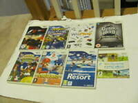 LOT OF 8 WII PAL GAME LOT WII SPORTS AND WII SPORTS RESORTS PLUS MARIO AND MORE
