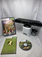 Kinect Sensor Xbox 360 + Kinect Adventures Xbox 360 Game Great Gift Free P&p