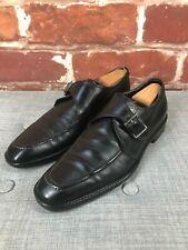 $850 Salvatore Ferragamo 8 D Monk Strap Split Driving Dress Italy Loafers Shoes