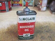SINCLAIR HOUSEHOLD OIL CAN LEAD HANDY MACHINE 4 OZ TIN ORIGINAL