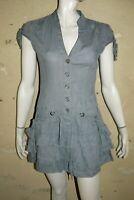 MORGAN Taille 36 Superbe robe manches courtes grise en lin dress kleid