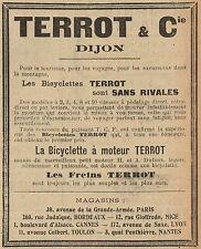 Y8243 Biciclette a motore TERROT - Pubblicità d'epoca - 1907 Old advertising