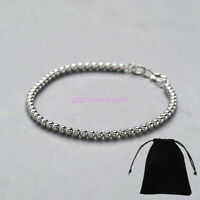 2.0mm Genuine 925 Sterling Solid Silver Chain Ladies Bracelet Stamped Charm Cuff