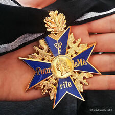 GRAND Pour Le Merite 24k Gold Plated With Oak Leaf Blue Max Highest Honor Repro.