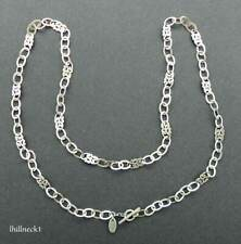 Lois Hill Scroll & Chain Link Sterling .925 Necklace - 39""