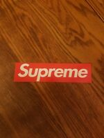 "Supreme Box Logo vinyl sticker decal 8"" x 2"" inch skateboard longboard luggage"