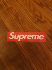 "Supreme Box Logo vinyl sticker decal 8"" x 2"" inch skateboard longboard luggage"