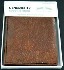 Dynomighty Tyvek Billfold Premium Wallet Brown Faux Leather Recyclable Novelty