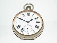GOOD CLEAN WORKING ANTIQUE LARGE 65mm GOLIATH POCKET WATCH