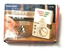 Radio Shack~Vintage 9 Range Battery Tester Fully Functional Complete W/ Manual