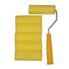 "Mini Roller With 6 Foam Rollers Painting Decorating 4"" Sponge Sleeves Refill"