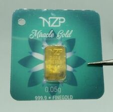 1/20 gr 0.05 gram mini gold bar 999,9 Miracle World smallest fine gold gift size