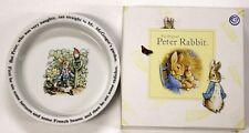 THE WORLD OF BEATRIX POTTER ORIGINAL PETER RABBIT BOWL WEDGWOOD FREDERICK WAYNE