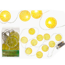 10 X GARLAND LEMON FAIRY LIGHTS WHITE LED LIGHT INDOOR OUTDOOR 1.30M DECOR NEW