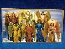 Estampita , Estampilla ,Stamp Oracion a  Los 7 Arcangeles