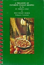 ITALIAN COOKBOOK - BIDGEPORT, CONNECTICUT - HOLY ROSARY CHURCH - ONE OF THE BEST