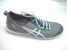Asics 10M Metrolyte gray blue purple teal walking womens ladies running shoes