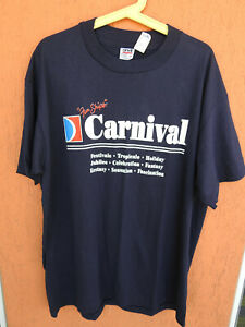 NEW! 90s Carnival Fun Ships T-Shirt Cruise Anvil Sz XL Vintage Made in USA