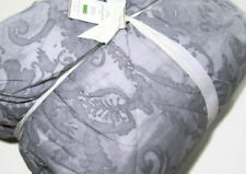 Pottery Barn Dusty Grayish Gray Scarlett Paisley Full Queen Comforter 2 Shams
