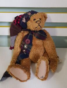 THE GANZ COTTAGE TEDDY BEAR  28CM TAGS! LORRAINE CHIEN! CC1382 OL'SCROOGE