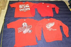 VTG Lot 1995 Stanley Cup Detroit Red Wings Western Conference Pullover Shirt Tee