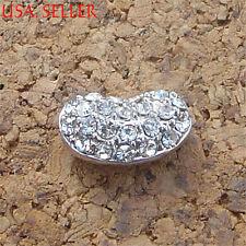 Genuine 925 Sterling Silver Stylish Broad Bean Shape Pendant 0.59*0.31 inch D149
