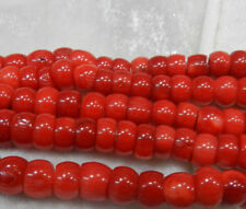NEW Natural 4x8mm Red Coral Abacus Gems Rondelle Loose Beads 15'' Strand
