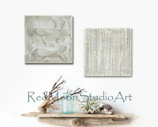 24x12, Abstract Art - Beach Cottage Nautical  Sand, US Art, Extra Thick Texture