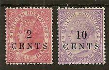 BRITISH HONDURAS 1888 LOCAL SURCH SG27/28