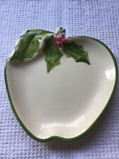 N S Gustin / LA Pottery - Christmas Holly Apple Plate
