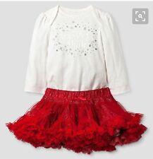 Cat & Jack Baby Sparkle And Shine Bodysuit $ Tutu Set Nwt 3-6 Months