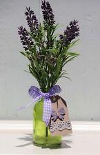 Deko Vase Lavendel Schleife Schmetterling Hänger Blumenvase Glas Mediterran H.25