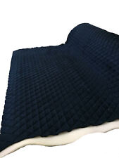 NAVY Suede Faux Quilted auto headliner headboard trim fabric with Foam back