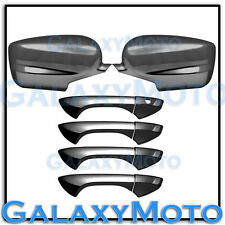 08-13 HONDA ACCORD Black Chrome Triple plated Full Mirror+4 Door Handle Cover