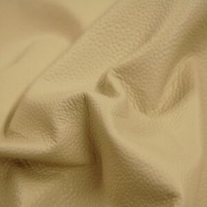 82 sf Almond / Cream Famous Stingray Upholstery Cow Hide Leather Skin x05q rsu