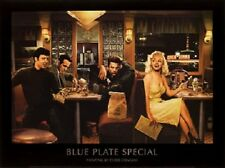 BLUE PLATE SPECIAL ART PRINT BY CHRIS CONSANI Marilyn Monroe Elvis diner poster