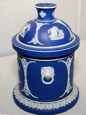 Rare Antique Wedgwood Blue Jasper Humidor