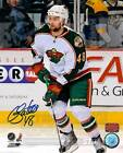 Guillaume Latendresse Minnesota Wild Signed Autographed Away Action 8x10