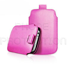 Premium PU Leather Pull Tab Pouch Case Cover For Various Motorola Phones